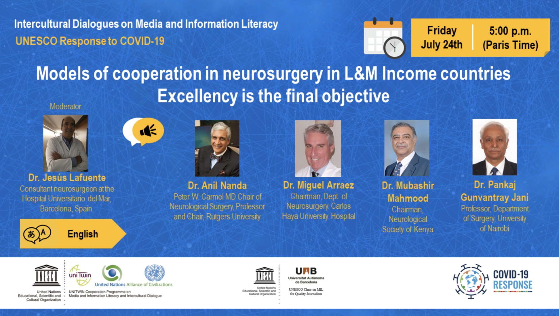 WEBINAR Models of cooperation in neurosurgery in L&M Income countries. Excellency is the final objective